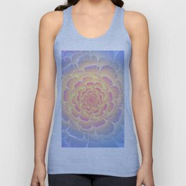 Romantic violet and yellow flower Unisex Tank Top