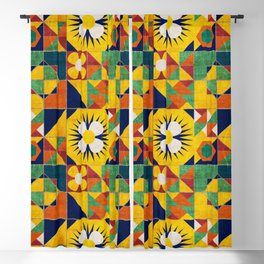 Spanish tiles Blackout Curtain