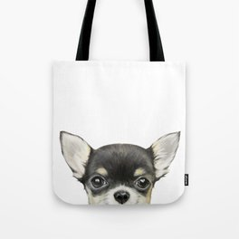 Chihuahua mix color Dog illustration original painting print Tote Bag