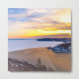 Lake Baikal and Angara River Metal Print