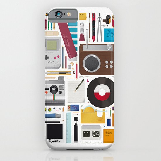 Stuff (white background) iPhone & iPod Case