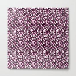 Primal Circle (Fuchsia) Metal Print