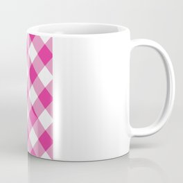 Gingham - Pink Coffee Mug