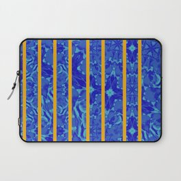 blue flower with stripes Laptop Sleeve