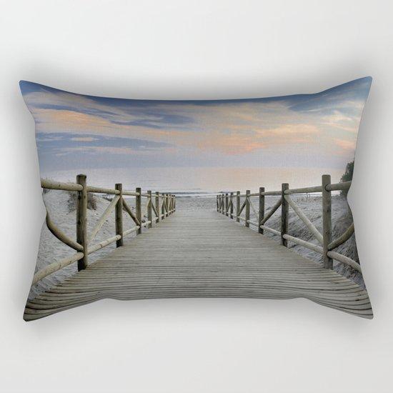 "The path..., the beach II .... ""Artola"". Rectangular Pillow"