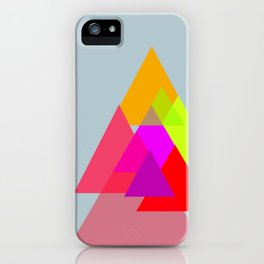 Triangles - Rouge color scheme iPhone Case