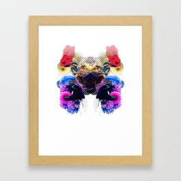Condescending Bearded Dragon Pushes Lucky Judges At Midnight Framed Art Print