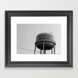 Crystal Beach Framed Art Print
