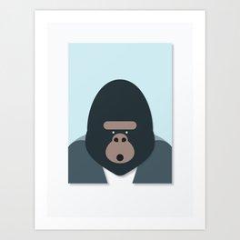 Gorilla Portriat Art Print