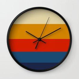 Summer of 69 Vintage Color Palette Colorful Color Block Pattern Wall Clock
