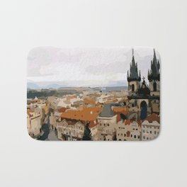 Prague CZ street view Bath Mat