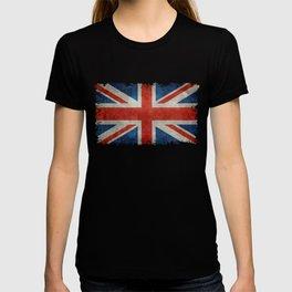 """UK Union Jack flag """"Bright"""" retro grungy style T-shirt"""