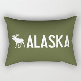 Alaska Moose Rectangular Pillow
