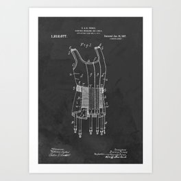 Brassiere Girdle Antique Patent Art Print
