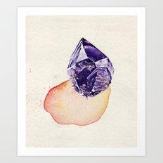 Amethyst Splash Art Print