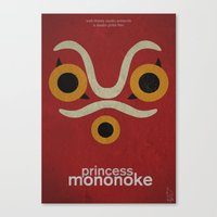 princess mononoke Canvas Prints featuring Princess Mononoke  by Fabio Castro