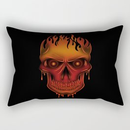 Flame Skull Rectangular Pillow