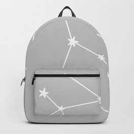 Gemini (White & Gray Sign) Backpack