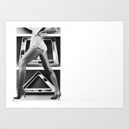 TRIANGLE STEP Art Print