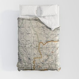 Map of Napa & Solano Counties, California (1913) Comforters