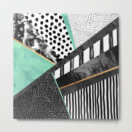 Lines & Layers 3 Metal Print