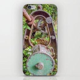 Mylor Walk - Rusty Boat Winch (end view) iPhone Skin