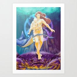 Cancer - Zodiac King Art Print