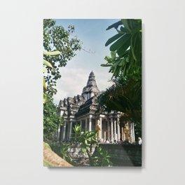 Jungle Temple Metal Print