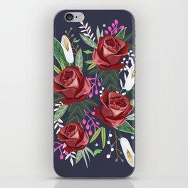 Dreaming Rose, flower, rose art print, floral, blossom iPhone Skin