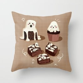 Ghost Spooky Desserts Throw Pillow