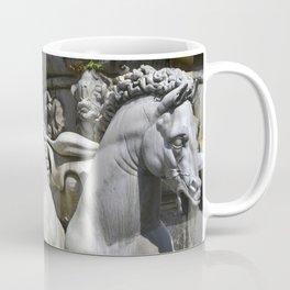Horses Of Neptunes Fountain , Florence Italy Coffee Mug