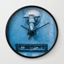 Blue Doorknocker Wall Clock