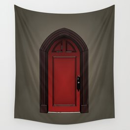 Red door in The Haunting of House Wall Tapestry
