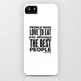 The Best People (Black) iPhone Case