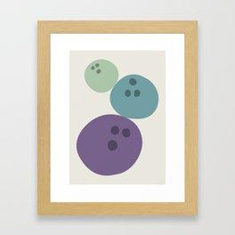 Abstract No.15 Bowling Balls Framed Art Print