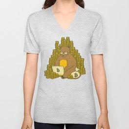 Bitcoin Miner T-shirt Bear Unisex V-Neck