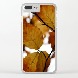 Beech Leaves Clear iPhone Case