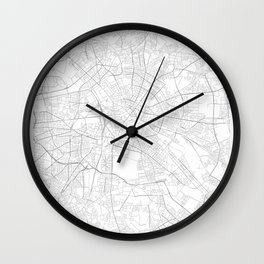Berlin, Germany Minimalist Map Wall Clock