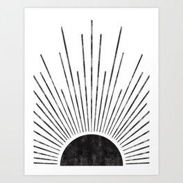 half sun Art Print