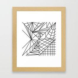 net geometry abstract Framed Art Print