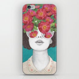The optimist // rose tinted glasses iPhone Skin