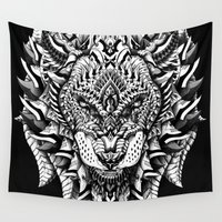 bioworkz Wall Tapestries featuring King of the Jungle by BIOWORKZ
