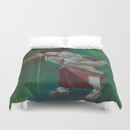 The Geisha on the Washing Line Duvet Cover