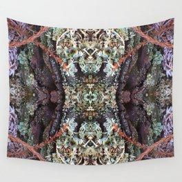 Redwood Bark Kaleidoscope - Purp Edition Wall Tapestry
