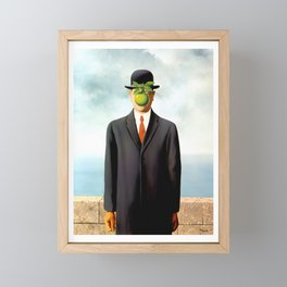 Rene Magritte The Son of Man, 1964 Artwork, Tshirts, Posters, Prints, Bags, Men, Women, Youth Framed Mini Art Print
