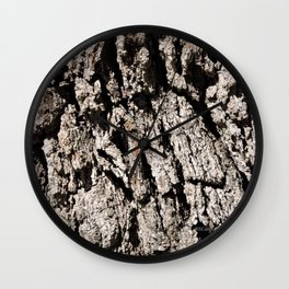 TEXTURES: Englemann Oak Bark Wall Clock