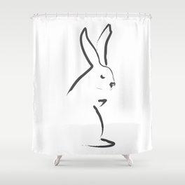 Zen Snow Bunny Shower Curtain