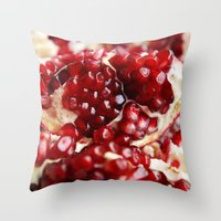 pomegranate Throw Pillows featuring Pomegranate  by Libertad Leal Photography