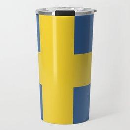Sweden flag emblem Travel Mug