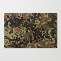 david fleck Canvas Prints featuring Fleck Tarn Camoflauge  by Derek Boman